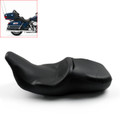 2-Up Leather Seat Saddle For Harley FLHT Electra Glide Standard (1997-2016) Black