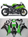 Fairings Plastics Kawasaki ZX10R Ninja Green Black ZX10R Racing (2011-2014)