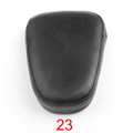 Motorcycle Sissy Bar Backrest Cushion Pad Harley Choppers Universal 23, Black