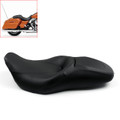 Leather Seat For Harley Touring FLHX Street Glide FLHR Road King (2007-2015) Black