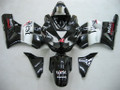 Fairings Kawasaki ZX12R Ninja Black White West Racing (2002-2004)