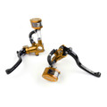 "Levers Master Cylinder Hydraulic Brake Hydraulic Clutch 7/8"" Universal Fit Gold"