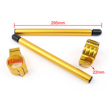 43mm Clip-On Handlebars Universal Motoycycle CBR VTR GSX GSXR SV ZX Mille R6 R1, Gold
