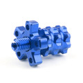 Universal 8mm Anodized Billet Aluminum Clutch Cable Adjuster Set, Blue