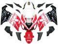 Fairings Kawasaki ZX6R 636 Red White Black Ninja Racing  (2005-2006)