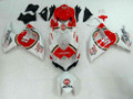 Fairings Suzuki GSXR 600 750 White Red Lucky Strike Racing  (2008-2009-2010)