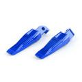 Foot Pegs REAR Pedal Set Yamaha FZ09 FZ07 MT07 MT09 TMAX500 TMAX 530 XP530 XP500 Blue