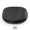 Motorcycle Sissy Bar Backrest Cushion Pad Harley Choppers Universal 20, Black