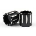 Deep Edge Cut Front Axle Nut Cover Fits For Dyna Electra Glides Sportster Softail Road Glide Road King Black