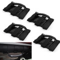 Ultimate Roll Bar Grab Handles Jeep Wrangler JL JK TJ YJ CJ 4 Pcs Black