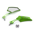 8MM 10MM Universal CNC Machined Mirrors Maple Green