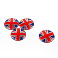 4x Wheel Center Hub Cap Emblem Badge decal Union Jack UK Flag Mini Cooper