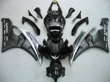 Fairings Yamaha YZF-R6 Black White R6 Racing (2006-2007)