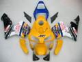 Fairings Honda CBR 600 RR Yellow & Blue No.46 N. Azzurro Racing (2003-2004)