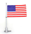 Flag Pole Mount Luggage Rack Vertical USA Harley-Davidson Touring Road King Glide & FLHT
