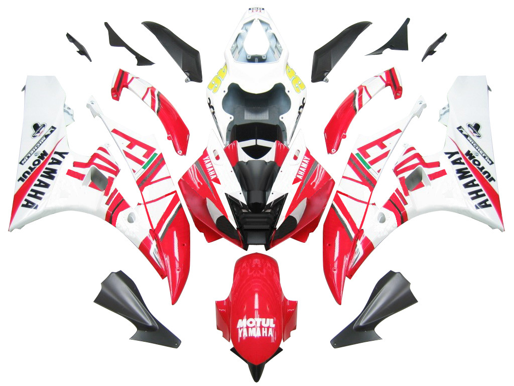 Fairings Yamaha YZF-R6 White Red No 46 FIAT R6 Racing (2006-2007)
