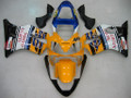 Fairings Honda CBR 600 F4i Yellow No.46 Azzurro Racing (2001-2003)