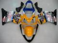 Fairings Honda CBR 600 F4i Yellow No.46 Azzurro Racing (2001-2003)