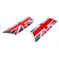 Door Pull Handle Covers Trim MINI Cooper R55 R56 R57 R58 Union Jack UK Flag 2pcs