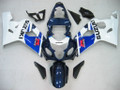Fairings Suzuki GSXR 600 750 Blue & White GSXR Racing  (2004-2005)