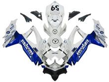 Fairings Suzuki GSXR 600 750 White Blue Jordan Racing  (2008-2009-2010)