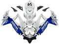 Fairings Suzuki GSXR 600 750 White Blue Jordan Racing  (2008-2009-2010)