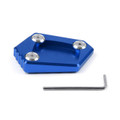 Kickstand Shoe Extension Plate Pad Side Stand Honda NC700S X (12-14) NC700 Integra (12-14) CBR500R (13-15) CB500F X (13-14) Blue