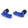 CNC Swingarm Spool Adapters Honda CBR250R (2011-2013) Blue