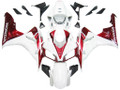 Fairings Honda CBR 1000 RR White & Cherry Red Honda Racing (2006-2007)