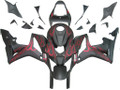 Fairings Honda CBR 600 RR Matte Black & Red Flame CBR Racing (2007-2008)