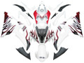 2008-2016 Fairings Yamaha YZF-R6 White & Red Flame R6 Racing