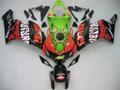 Fairings Honda CBR 1000 RR Black Green Valentino Rossi Racing (2004-2005)