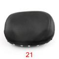 Motorcycle Sissy Bar Backrest Cushion Pad Harley Choppers Universal 21, Black