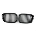 Gloss Black Kidney Grille ABS Matt Mesh BMW 5-Series E39 (2001-2004)