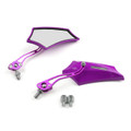 8MM 10MM Universal CNC Machined Mirrors Maple Purple