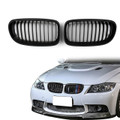 Kidney Grille BMW E90 E91 LCI 3 Series Sedan Wagon 4 Door (2008-2012) Matte Black