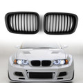 Car Front Fence Grill Grille BMW E46 4 Doors (1998-2001) 3 Series, Black