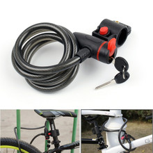 Bicycle Bike Cycle Motorbike Heavy Duty Coil Security Lock Steel Cable Chain Key