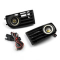 Front Angel Eyes Fog Lights + Grille VW Golf 5 MK5 Rabbit 2003-2009