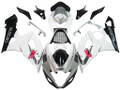Fairings Suzuki GSXR 1000 White & Silver GSXR Racing  (2005-2006)