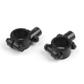 "Motorcycle Bike 1"" 25mm HandleBar 10MM Thread Mirror Mount Holder Clamp Adaptor, Black"