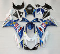 Fairings Plastics Suzuki GSXR600 GSXR750 K11 Blue White Dunlop Racing (2011-2014)