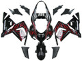 Fairings Kawasaki ZX 10R Black & Red Flame Ninja Racing (2004-2005)