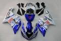 Fairings Kawasaki ZX6R ZX636 Blue White FIAT Racing  (2005-2006)
