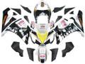 Fairings Kawasaki ZX6R 636 Black White Yellow Playboy  Racing  (2005-2006)