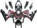 Fairings Honda CBR 600 RR Matte Black & Red Flame Racing (2005-2006)