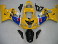 Fairings Suzuki GSXR 600 750 Yellow Black GSXR Racing  (2004-2005)