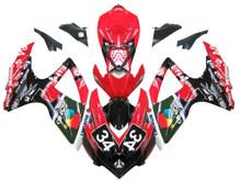 Fairings Suzuki GSXR 600 750 Red Black No.34 Suzuki Racing  (2008-2009-2010)