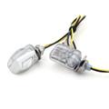 LED Micro Mini Small Indicators Turn Signals Universal 6mm Mount, Chrome