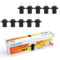 10pcs Genuine PHILIPS 12597 T5 12V 1.2W BAX8.3s/1.35 Premium Signaling Lamp Bulb